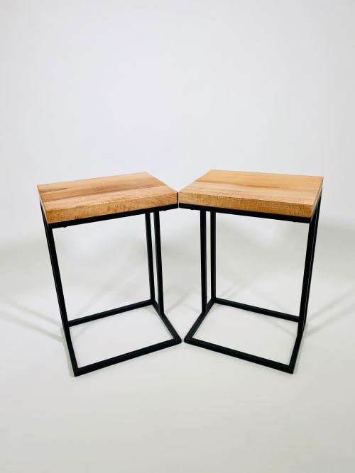 Figured Maple Cantilever Side Tables | Tables by Live Edge Lust