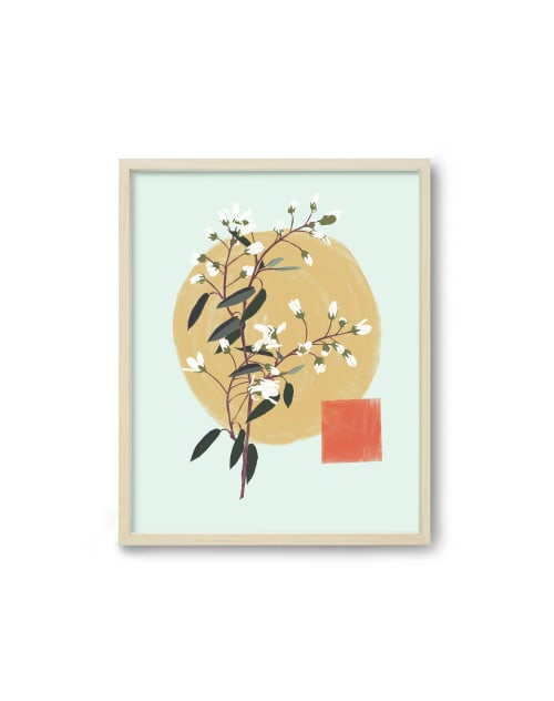 Paintings by Birdsong Prints - Modern Minimalist Japanese Art Modern Floral Botanical Print