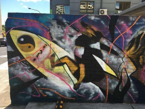 Street Murals by Derek James Carter aka Doer seen at Cronulla, Cronulla - Cronulla Walk the Walls