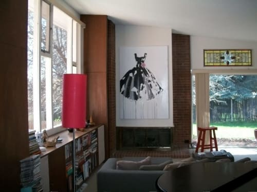 Paintings by Roxanne Rossi seen at Private Residence, Denver - Dresses