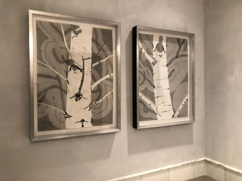 Art Curation by Meredith Nemirov seen at Private Residence, Telluride - Bathroom/Telluride Residence