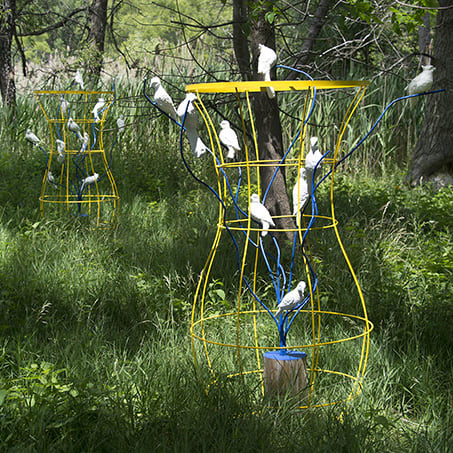 Public Sculptures by Roberley Bell at Tifft Nature Preserve, Buffalo - Locus Amoenus