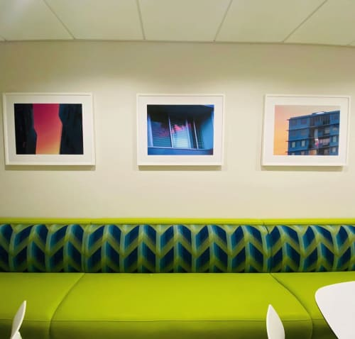 Paintings by Rina Patel seen at Memorial Sloan Kettering Cancer Center, New York - Colorful Abstract Painting