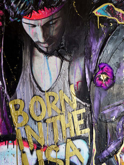 Paintings by Nickhartist seen at Private Residence, Chicago - Bruce Springsteen