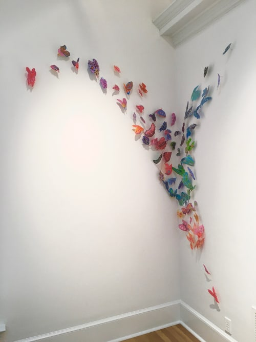 Art & Wall Decor by Leisa Rich seen at Swan Coach House, Atlanta - Birds and Butterflies