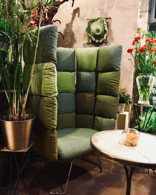 Chairs by Raffaella Mangiarotti seen at Fioraio Bianchi Caffè, Milano - Undecided Armchair