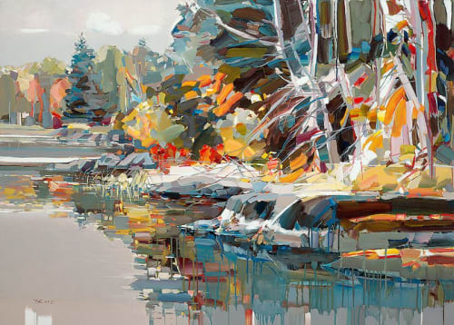 "Art & Wall Decor by YJ Contemporary seen at East Greenwich, East Greenwich - Josef Kote ""Paradise Found"""