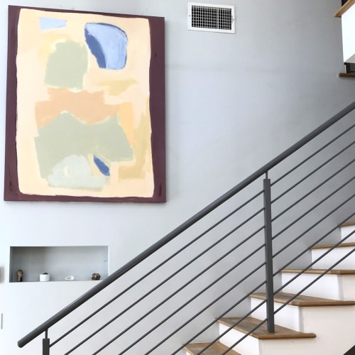 Paintings by Sara Marlowe Hall at Private Residence, Los Angeles - oasis- from above