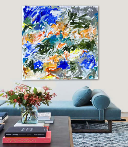 Paintings by Linnea Heide contemporary fine art seen at Asheville, Asheville - 'TiDiNGS' original abstract painting by Linnea Heide