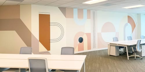 Murals by Betty Larkin seen at Redwood City, Redwood City - Lonny Magazine HQ