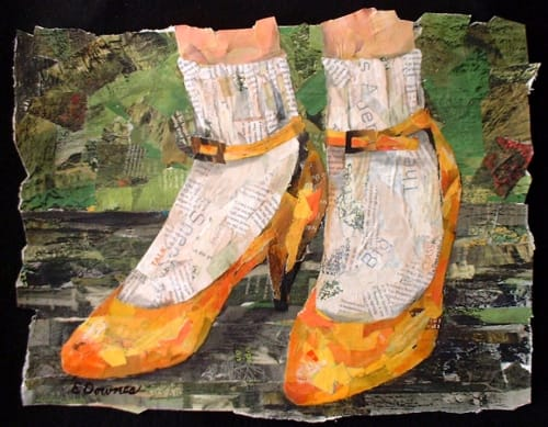 Paintings by Eileen Downes seen at Private Residence, Bigfork - Tangerine Heels