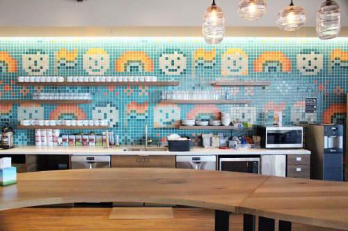 "Tiles by Shinji Murakami seen at Salesforce East, San Francisco - ""Love & Pride"""