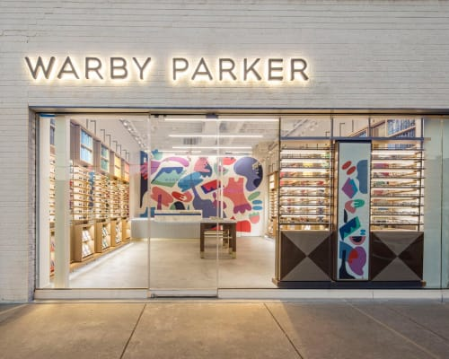 Murals by Holey Kids seen at 3516 S Peoria Ave, Tulsa - Warby Parker Mural