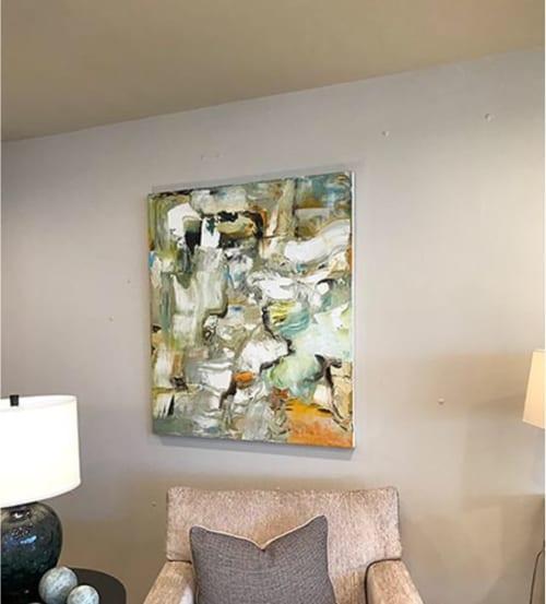 Paintings by Anne B Schwartz seen at Kreiss Home Furnishings, West Hollywood - 255 Italian Rapture