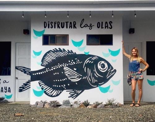 Murals by pepallama seen at Selina Jaco, Jacó - Disfrutar Las Olas