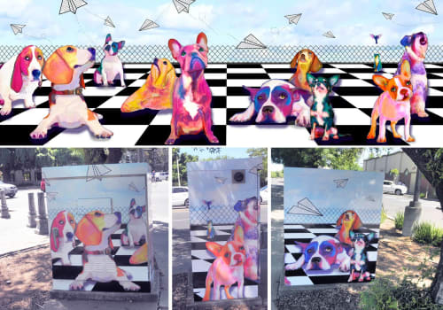 Street Murals by Kerri Warner seen at Davis, Davis - Utility Box wrap