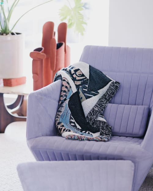 Linens & Bedding by K'era Morgan seen at Private Residence, Los Angeles - Yucca Throw Blanket