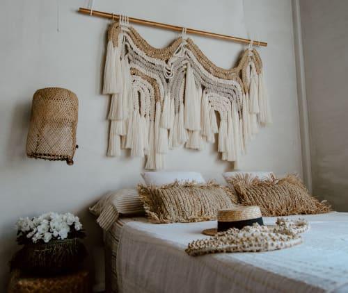 Macrame Wall Hanging by Ranran Design by Belen Senra - Natural Organic Macrame Headboard