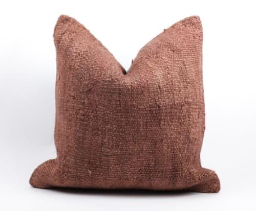 Pillows by Wayfarer seen at Private Residence, Topanga - Single Sided Vintage Hemp Pillows