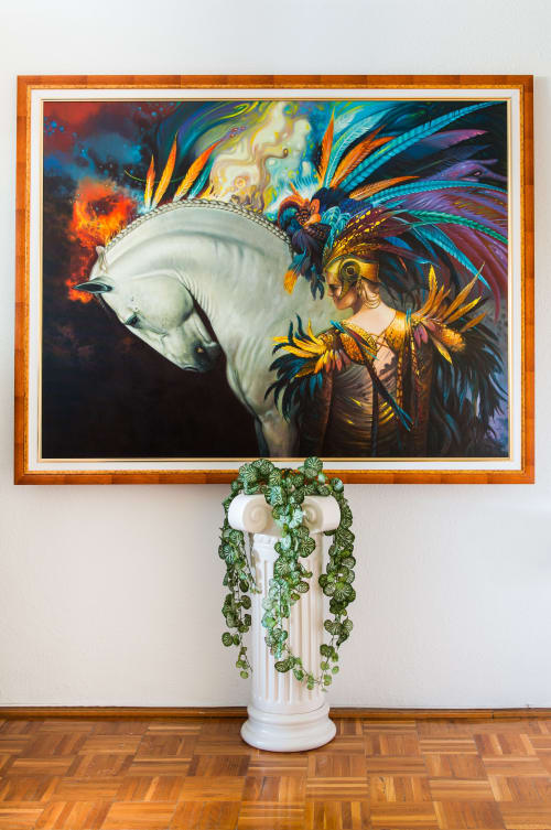 Paintings by Temesvari Art seen at Private Residence, Budapest - Amazon