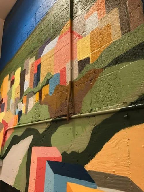 Murals by Jorge-Miguel Rodriguez seen at 'O Munaciello, Miami - 'O Munaciello Miami