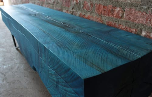 Benches & Ottomans by Andre Joyau seen at Brooklyn - Private Residence, Brooklyn - KYUKEI BENCH