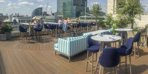 Couches & Sofas by Coco Wolf seen at Aviary - Rooftop Restaurant & Terrace Bar, London - Coco Wolf at The Aviary Rooftop bar