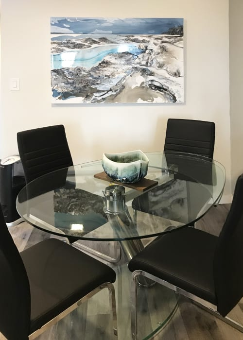 Paintings by Celina Melo seen at Private Residence, Mississauga - Icescape IV, 2018