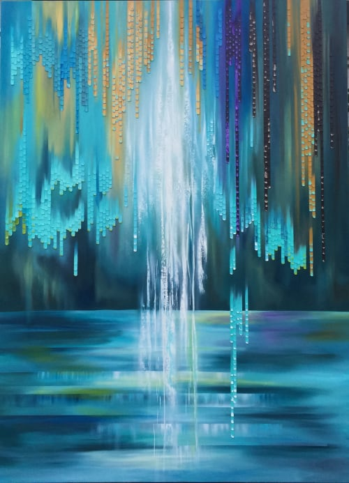 Paintings by Nina K seen at Private Residence, San Diego - Dancing in the Rain