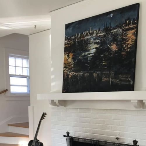 Paintings by Steve Wasterval seen at Private Residence, Brooklyn - Transmitter Park