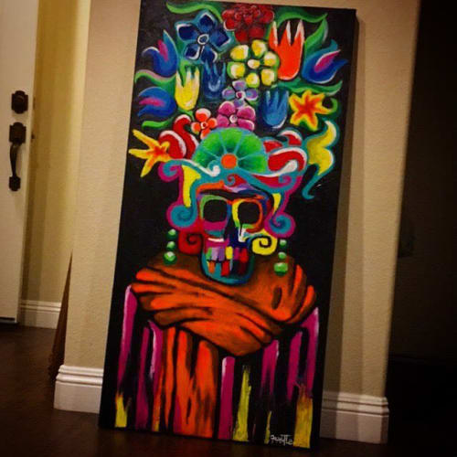 Paintings by Franky Castle Art - Day of the Dead Frida