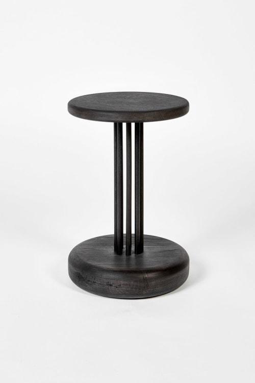 Chairs by Luke Ebbutt James seen at Fen Ditton Gallery, Fen Ditton - DORIC Pedestal