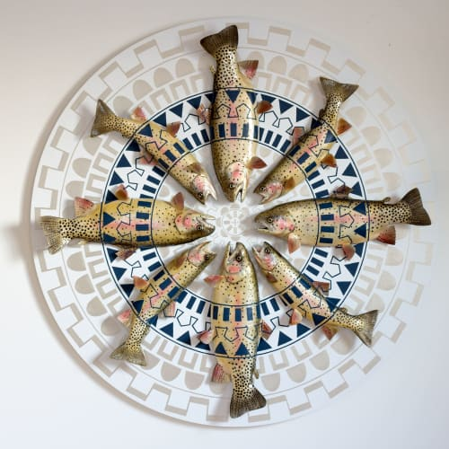 Sculptures by Cassandra Smith seen at Private Residence, Lake Forest - Pattern Fish Board