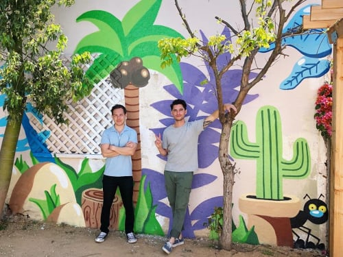 Murals by Darin seen at Private Residence, Los Angeles - Backyard Mural