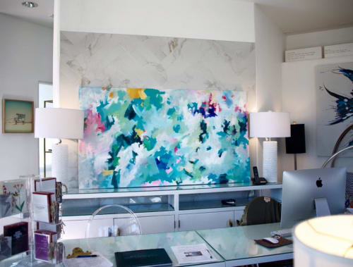 Paintings by Laura Schuler seen at Shanna Shryne Design, Hermosa Beach - Agua Caliente