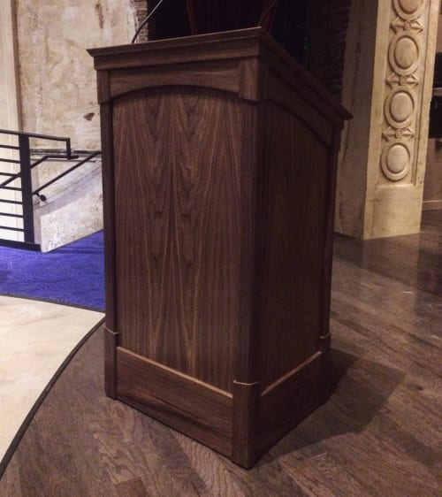 Furniture by Emmanuel Nicolaidis seen at Parkway Theatre, Baltimore - Walnut Lectern