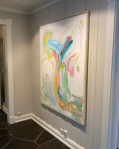 Paintings by Marit Geraldine Bostad seen at Private Residence, Oslo - Organica