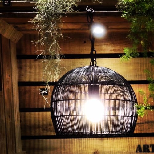 Lamps by Hacienda Crafts Company, Inc. seen at Hacienda Santa Rosalia, Manapla - Mini Buri Bell Lamp