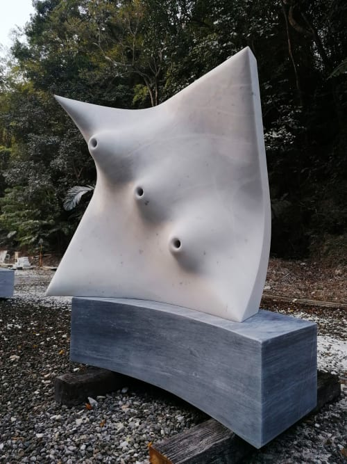 Public Sculptures by Francesco Mazzotta seen at Beipu Township - The blow of wind