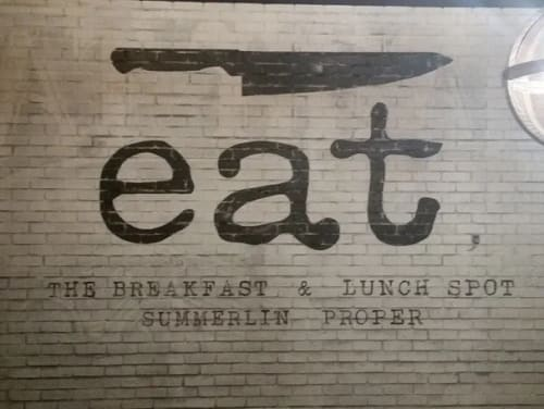 Murals by Jerry Misko seen at eat. Summerlin Proper, Las Vegas - Eat Mural