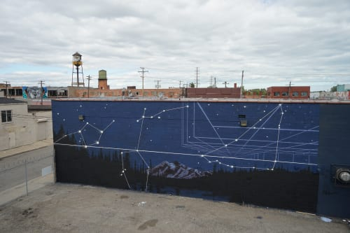 Murals by Mary Iverson at Detroit, Detroit - Star Struck for Murals in the Market