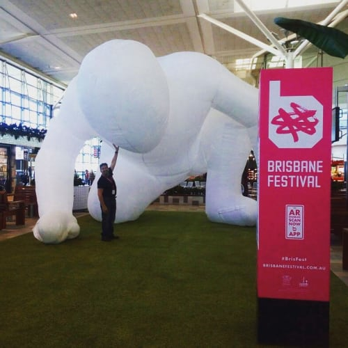 Public Sculptures by Parer Studio seen at Brisbane International Airport, Brisbane Airport - Fantastic Planet