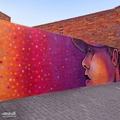 Street Murals by OTTSTUFF seen at Torrefarrera, Torrefarrera - Walker
