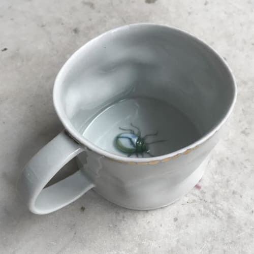 Ceramic Plates by Botticelli Ceramics seen at John Derian Company Inc, New York - Beetle Mug