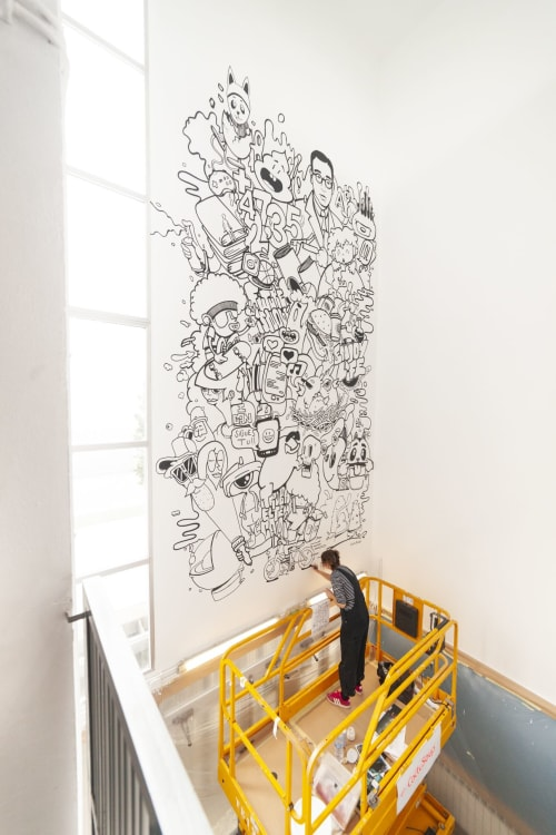 Murals by CactuSoup seen at Private Residence, Lleida - Graffiti