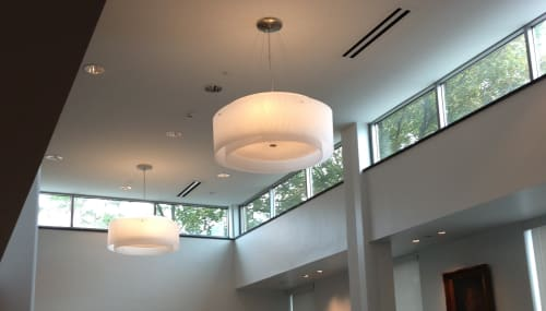 Chandeliers by CP Lighting seen at Mamaroneck Public Library, Mamaroneck - ExtraDouble Chandelier