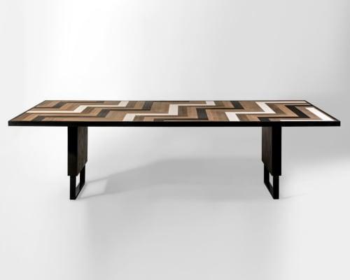 Domino Mid-Century Modern Dining Table   Tables by Larissa Batista
