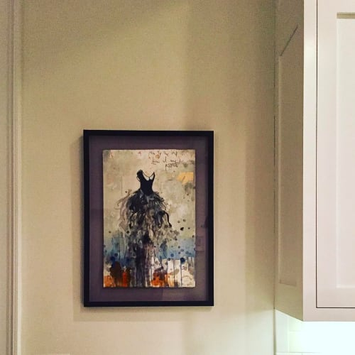 Paintings by margherita martinelli seen at Private Residence, Hoboken - Black Dress