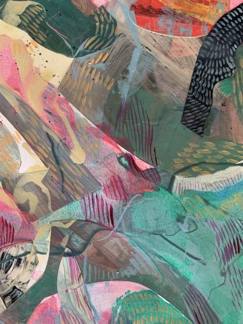 Paintings by K'era Morgan seen at Creator's Studio, Los Angeles - Merge Emerge