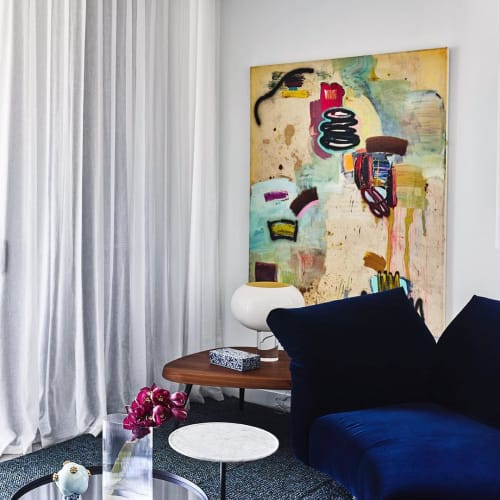 Paintings by Max Presneill seen at Private Residence, Brisbane - Abstract Painting